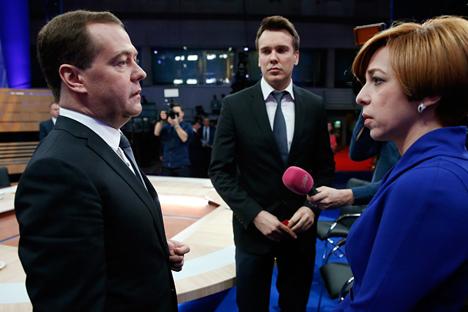 """Medvedev: """"Vivemos todo o século 20 sob sanções permanentes"""" Foto: AP"""