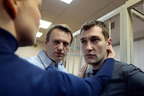 Alexey (left) and Oleg Navalny.