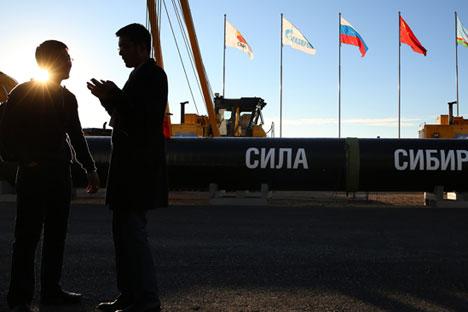 """Дел од гасоводот """"Силата на Сибир""""."""
