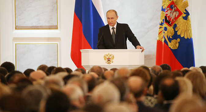 President outlines plans for Russian economy in state-of-the-nation address. Source: Konstantin Zavrazhin / RG