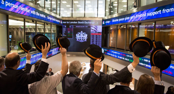 The London Stock Exchange, picture taken on June 23, 2014. Source: Getty Images/Fotobank