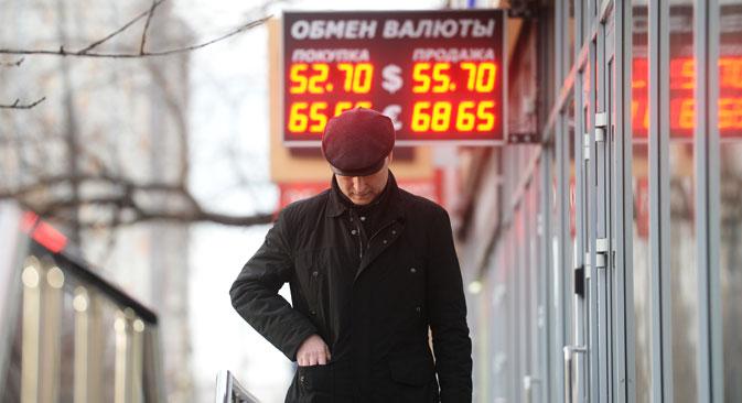 According to the Ministry of Economic Development, Russia will fall in rececction in 2015. Source: Kirill Kalinnikov / RIA Novosti