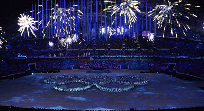 Closing ceremony of Sochi Olympics. Source: RIA Novosti / Alexader Vilf