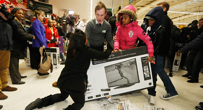 Black Friday in London. Source: Reuters