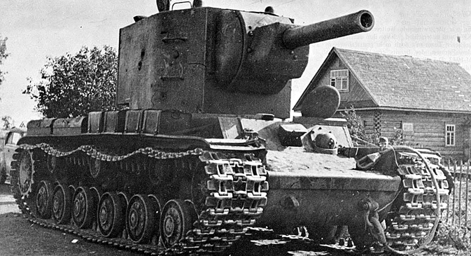 Soviet tank KV-2 left in Lvov region, West Ukraine, 1941. Source: Open source