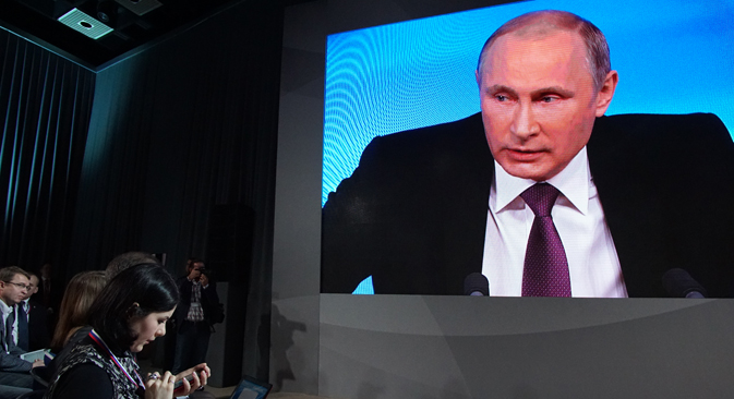 Economic situation is only temporary, says Russian president. Source: Konstantin Zavrazhin / RG
