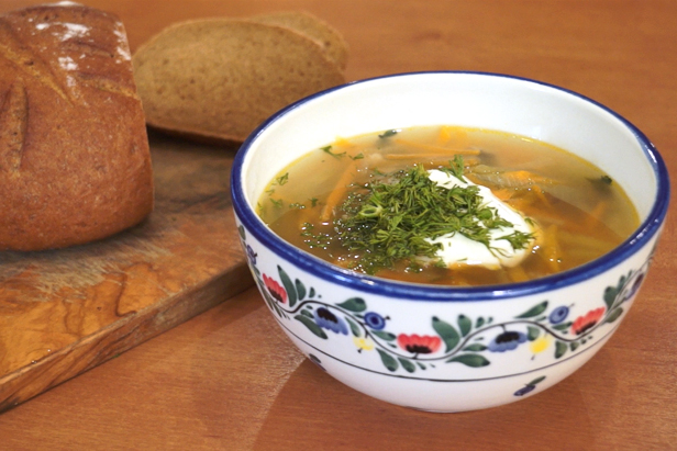 Delicious TV: Rassolnik, soup with pickled cucumbers