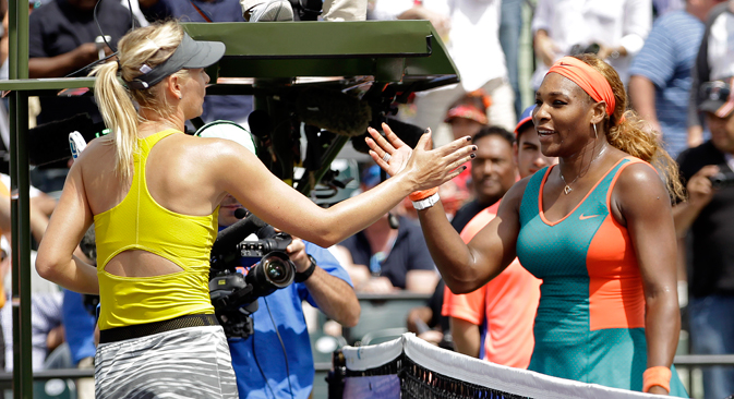 World number one Serena Williams wins her sixth Australian Open title with a 16th successive victory over Maria Sharapova on Jan. 31, 2015. Source: AP