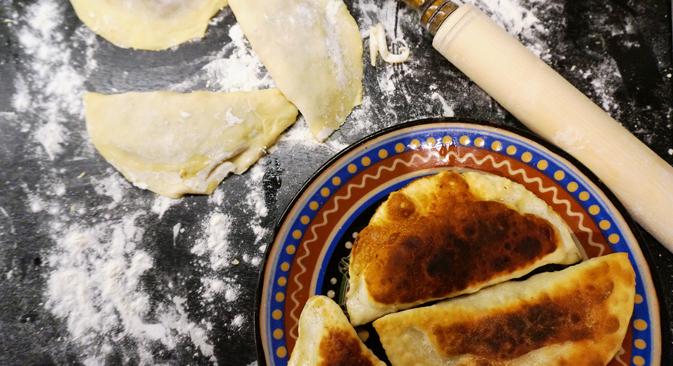 Chebureki, Soviet Diet style. Source: Anna Kharzeeva