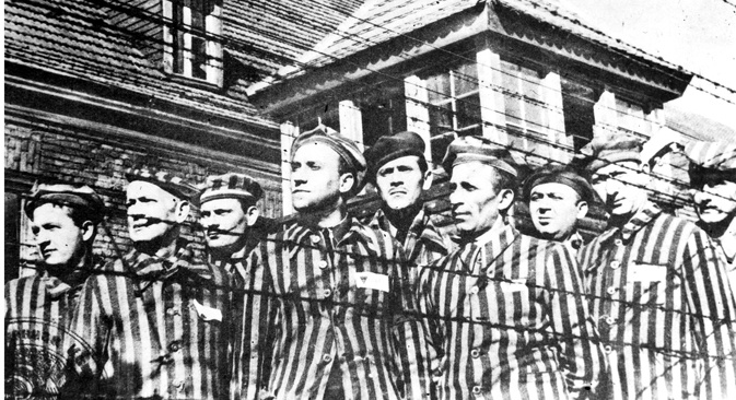 April of 1945. Victims of Auschwitz (Oswiecim) concentration camp. Reproduction. Source: B. Borisov / TASS