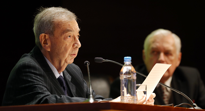 Yevgeny Primakov attends a meeting of the Mercury Club at Moscow's World Trade Centre. Source: Sergei Savostyanov / TASS