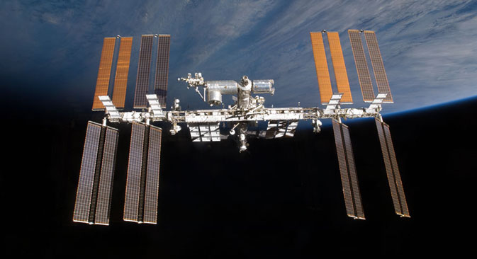 The International Space Station over the horizon. Source: NASA