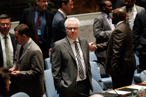 According to Russia's Permanent Representative to the United Nations Vitaly Churkin, the adoption of the resolution testifies to the ability of the international community to work together in the fight against global threats. Source: Reuters