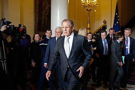 Lavrov pediu pressão de Berlim e Paris para cumprimento de acordos de paz por Kiev Foto: Reuters