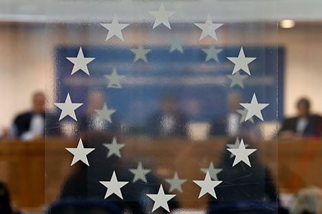 Judges of the European Court of Human Rights are seen during an hearing at the court in Strasbourg. Source: Reuters