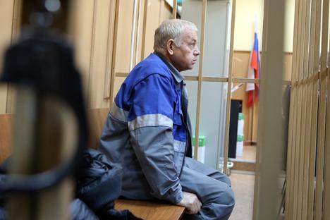 Snowplough driver Vladimir Martynenko.