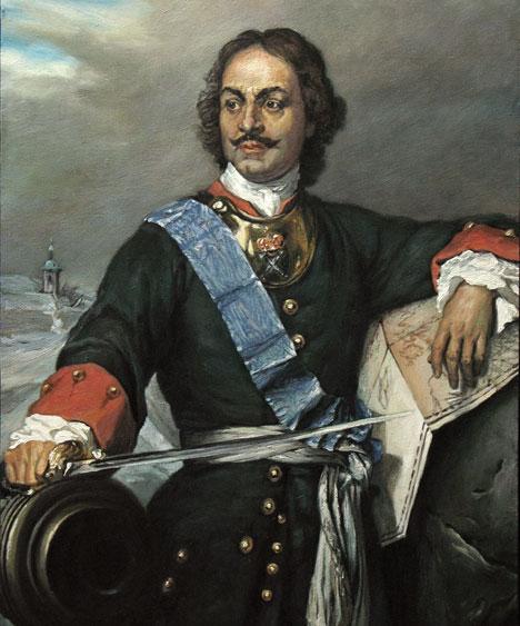 Paul Delaroche. Peter the Great, 1838. Russian tsar in the uniform of Preobrazhensky regiment. Source: Wikipedia.org