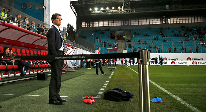The national football coach Fabio Capello. Source: AP