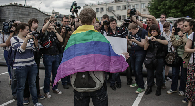 "Most people in Russia were quite intolerant toward LGBT people even before the ""anti-gay"" campaign was launched. Source: Andrey Stenin/RIA Novosti"