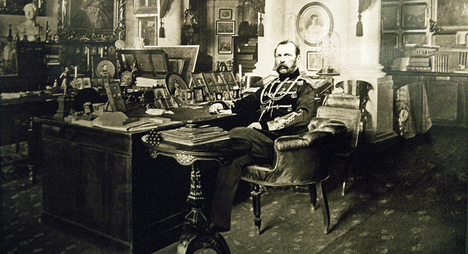 Emperor Alexander II in his study. Photograph by Levitsky & Son, 1880. Source:  Dmitry Korobeinikov / RIA Novosti