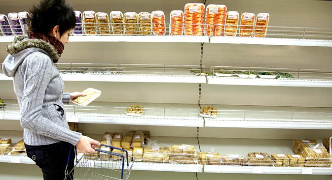 Der Höhepunkt der Inflation wird im zweiten Quartal 2015 erwartet. Foto: Alexander Rumin/TASS