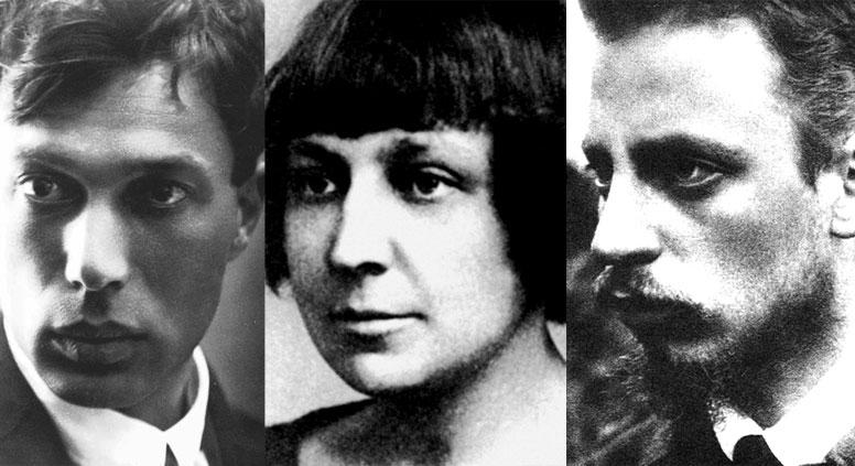 L-R: Pasternak, Tsvetaeva, Rilke