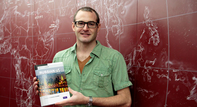 Tim from Australia promises to study Russian via his new book. Source: Slava Petrakina / RBTH