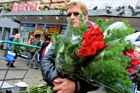 "You may flood your significant other with bouquets and flowers during the other 364 days of the year, but if you forget about buying a ""venik"" (broom, that is) for her on March 8th, you're cursed, devastated, torn to pieces. Because, you know, everyone else GOT flowers. Source: RIA Novosti"