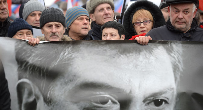 Opposition campaigner, ex-deputy prime minister Boris Nemtsov was killed in central Moscow early on February 28. Source: Kirill Kallinikov / RIA Novosti