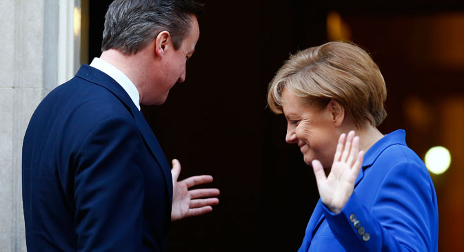 German Chancellor Angela Merkel and British Prime Minister David Cameron have declined Russia's invitation to attend the Victory Day parade in Moscow on May 9. Source: Reuters