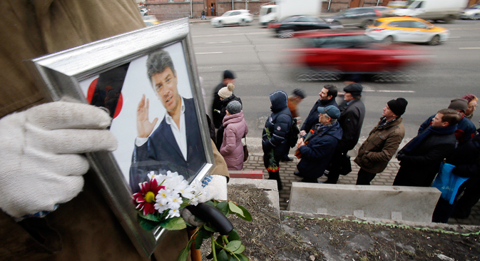 Opposition campaigner, ex-deputy prime minister Boris Nemtsov was killed in central Moscow early on February 28. Source: Reuters