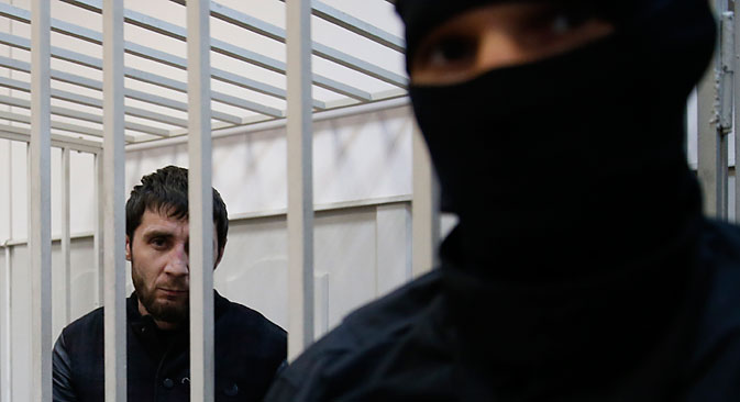 Zaur Dadayev, the suspected perpetrator of the killing of opposition activist Boris Nemtsov. Source: Reuters