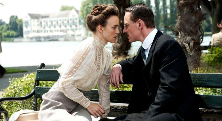 Sabina Spielrein (Kira Knightly) with Carl Jung (Michael Fassbender) in 'A Dangerous Method.' Source: kinopoisk.ru)