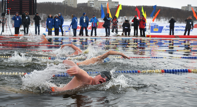 The first world championship in ice swimming in Murmansk. Source: Marta Zhegalina