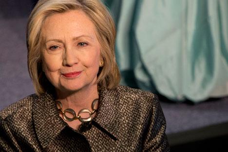 Calon presiden AS dari Partai Demokrat, Hillary Clinton.
