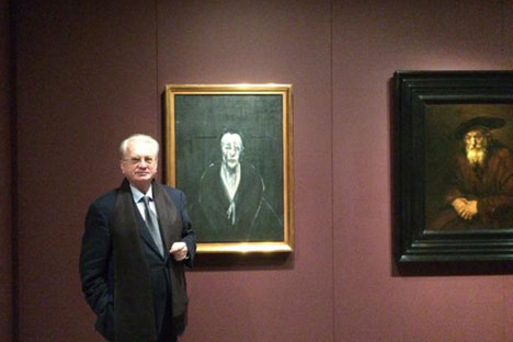 Mikhail Piotrovksy, director of the Hermitage, visited the opening of Francis Bacon exhibition. Source: Press photo