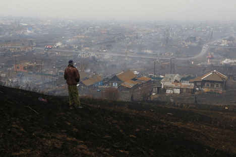 File photo: The fires in southern Siberia killed 15 people in 2015.