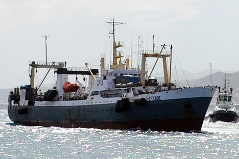 The vessel was arrested, the captain fined 50,000 kroner.