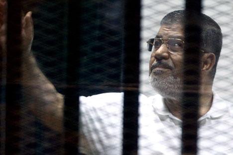 Der ehemalige Präsident Ägyptens Mohammed Mursi wurde zu 20 Jahren Gefängnishaft verurteilt. Foto: EPA