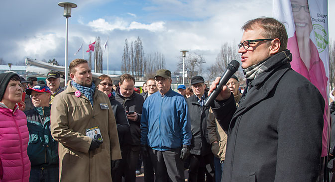 The leader of the opposition Center Party of Finland Juha Sipilä. Source: EPA