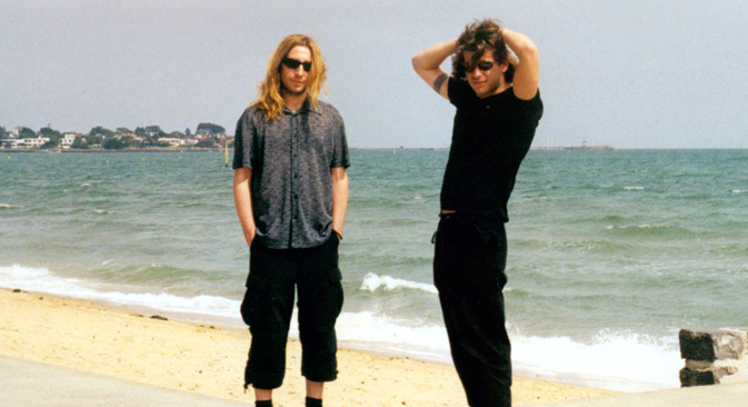 Shura (left) and Leva (right) returned to Russia in 1999, after spending a decade in Israel and Australia. Despite their absence, they became one of Russia's biggest rock bands. Source: Vadim Belakhov
