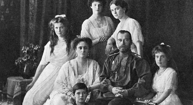 Russian Emperor Nicholas II (second from right) and his family. Source: RIA Novosti