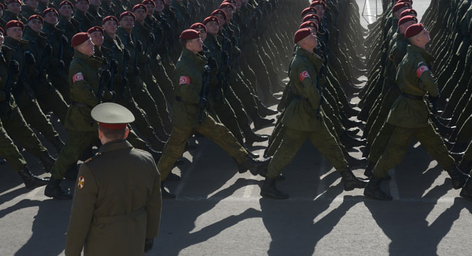 According to the SIPRI, Russian military spending in 2014 increased by 8 percent. Source: Grigoriy Sisoev / RIA Novosti