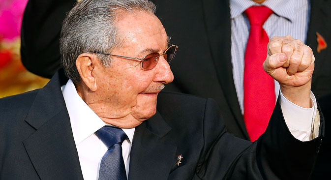 Cuban leader Raul Castro. Source: Reuters
