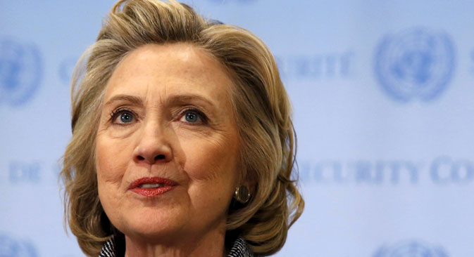 U.S. Secretary of State Hillary Clinton. Source: Reuters