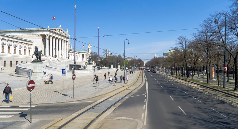 The Ring Road, famous Vienna's street opened on May 1, 1865. Source: wikipedia