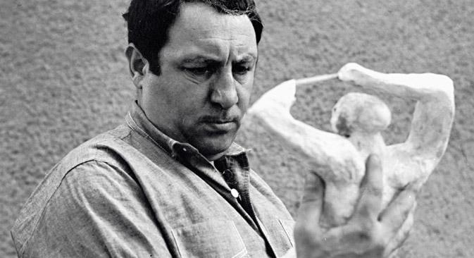 Sculptor Ernst Neizvestny, Moscow, 1967.