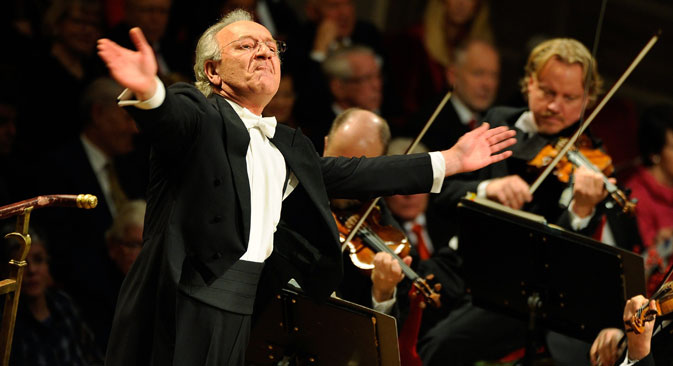 Yuri Temirkanov, artistic director and chief conductor of the St Petersburg State Philharmonic Orchestra. Source: EPA