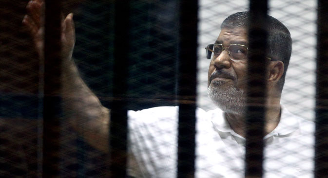 Mohamed Morsi has been sentenced to 20 years in prison. Source: EPA