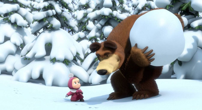A screenshot from 'Masha and the Bear.' Source: kinopoisk.ru